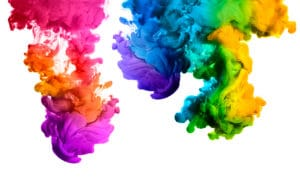 Ink in water for colour marketing