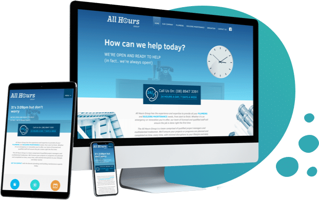 All Hours Plumbing website created by Localsearch