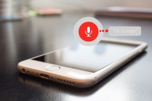 Voice search on smartphone