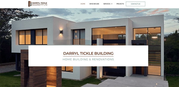 Darryl tickle building website