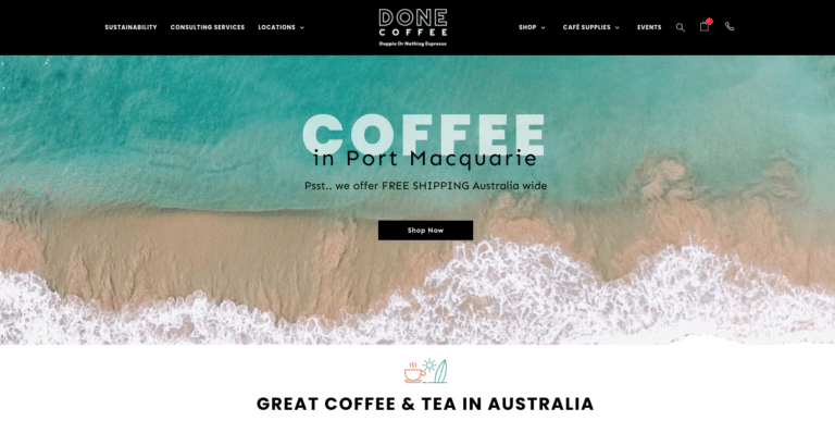 DONE coffee Localsearch website design