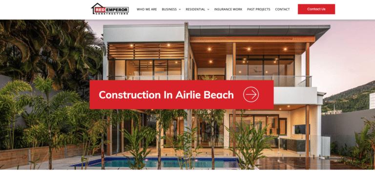 Red Emperor Constructions Airlie Beach website design